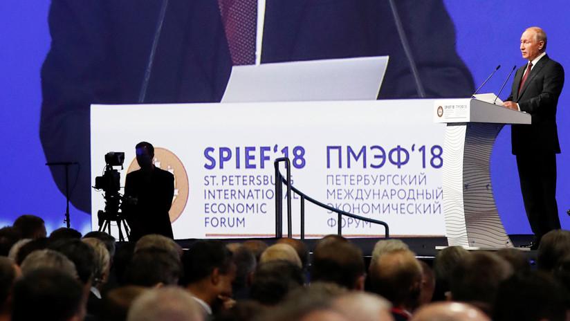 """Putin llama a construir una """"paz comercial plena, en vez de una tregua comercial"""""""