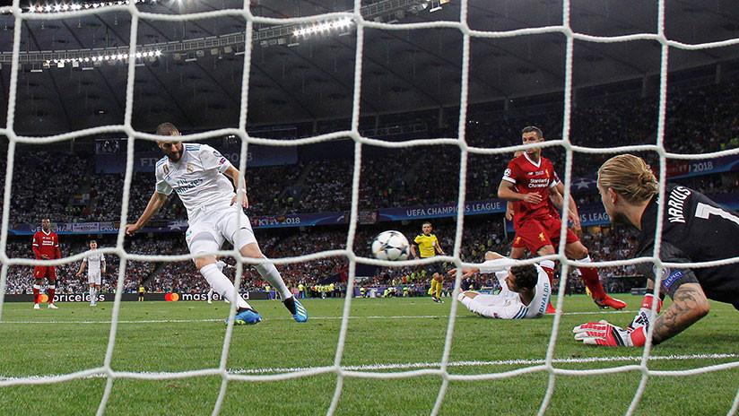La reñida final de la Liga de Campeones de la UEFA entre el Real Madrid y el Liverpool F.C.