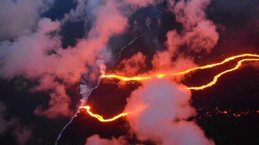 FOTO: La ESA muestra los ríos de lava del Kilauea desde el espacio