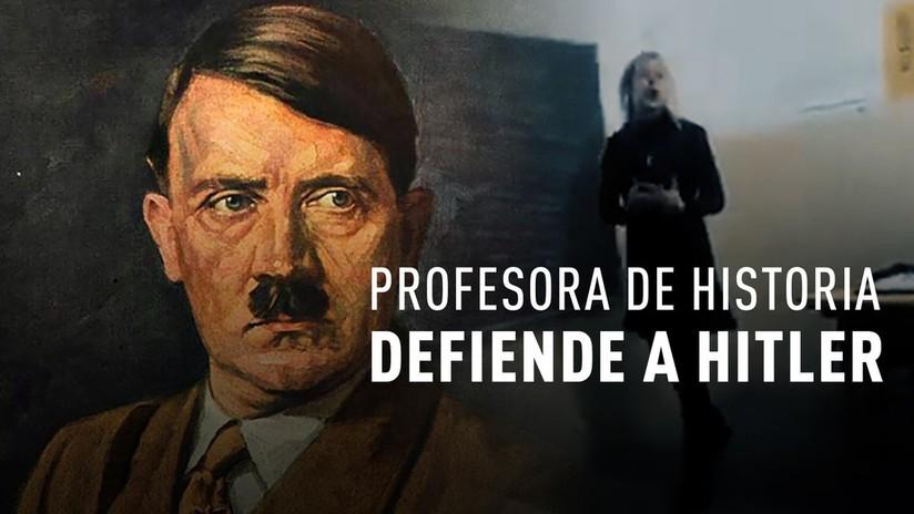 """""""También hizo cosas buenas"""": Despiden a una profesora argentina que defendió a Hitler en clase"""