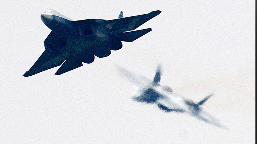 VIDEO: Los avanzados cazas furtivos rusos Su-57 lanzan ataques a tierra