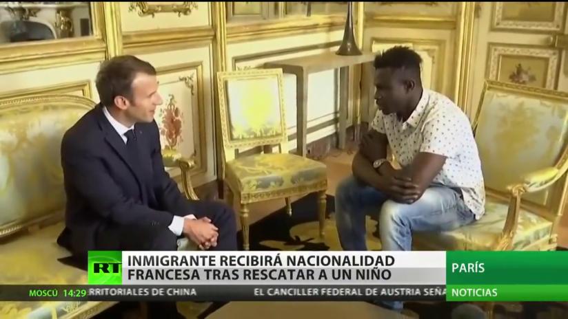 Inmigrante de Mali obtendrá nacionalidad francesa tras rescatar a un niño