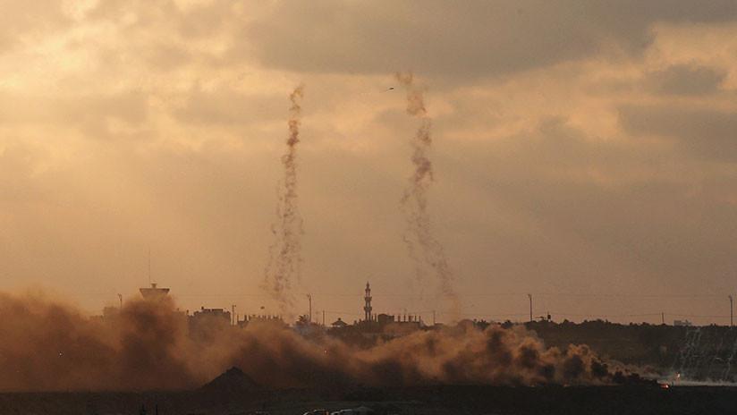 """Un """"aluvión de proyectiles"""" desde Gaza activa las sirenas al sur de Israel"""