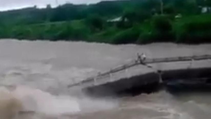 VIDEO: Graban el impresionante derrumbe de un puente en Cuba