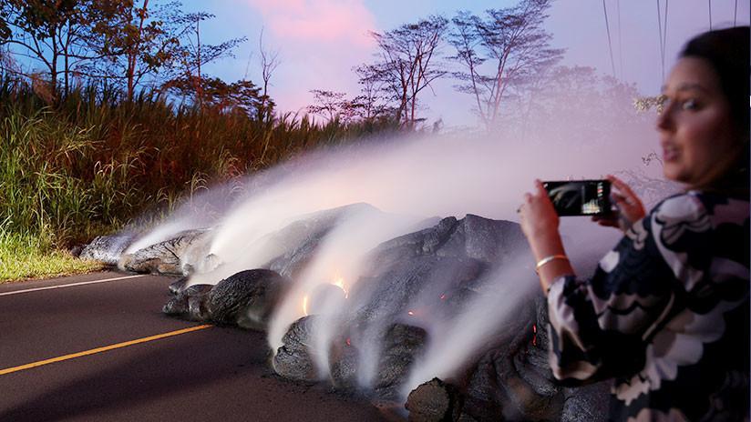Explican por qué no es recomendable asar malvaviscos sobre un volcán en erupción