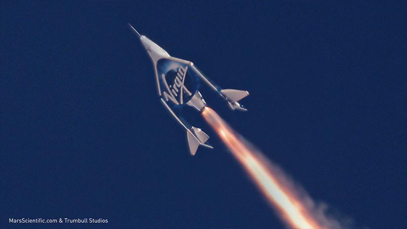 VIDEO: Así vuela la nave supersónica de Virgin Galactic por la estratósfera