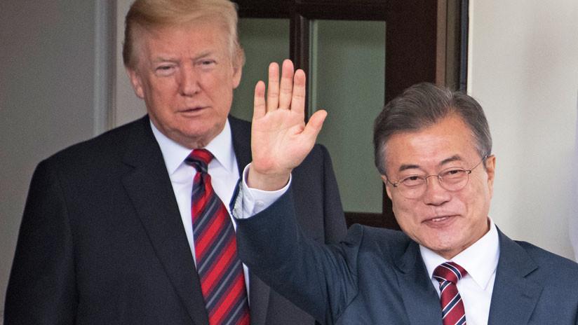 Presidente Moon contempla unirse a Trump y Kim en Singapur para declarar fin de la Guerra de Corea