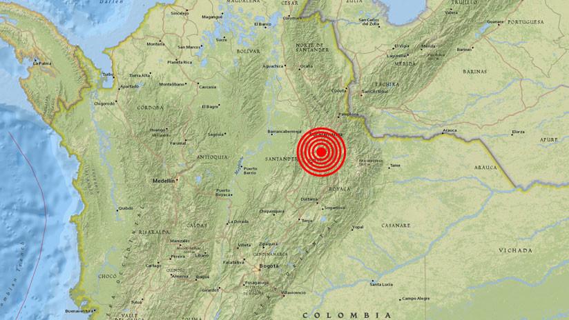 Se registra un sismo de magnitud 5,7 en Colombia