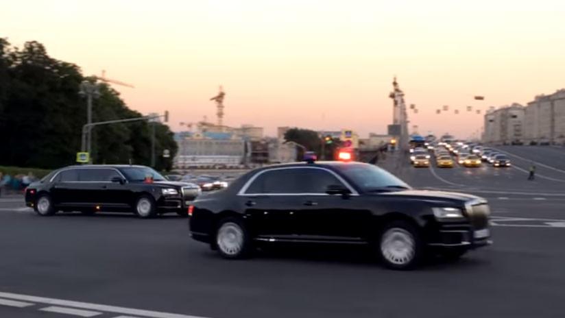 VIDEO: Varios coches del proyecto ruso Kortezh salen del Kremlin