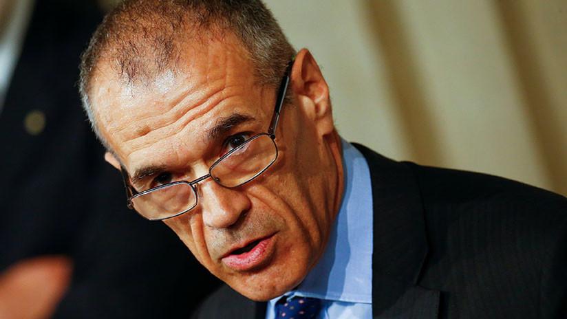 Carlo Cottarelli se niega a encabezar al gobierno italiano