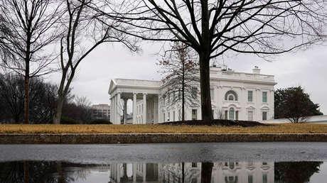 Vista exterior de La Casa Blanca en Washington, EE. UU., el 28 de enero de 2018.