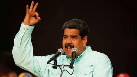 Nicolás Maduro hablando durante un acto de campaña en La Guaira, Venezuela, el 2 de mayo de 2018.