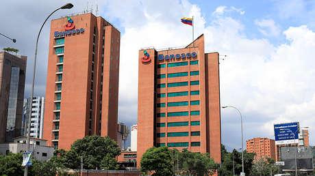 Edificio del banco Banesco en Caracas (Venezuela).