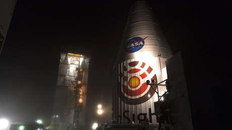 El cohete Atlas V que transportará el módulo InSight a Marte.