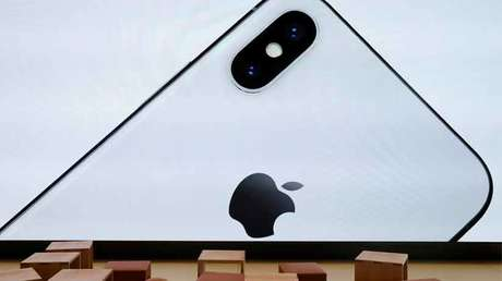 Image of iPhone X on the Apple Visitor Center, Cupertino, USA, November 17, 2017