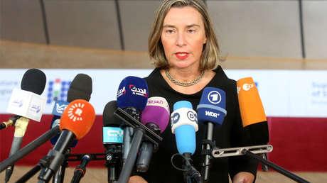 Federica Mogherini, alta representante de la Unión Europea (UE) para Asuntos Exteriores.