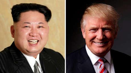Una imagen combinada del líder de Corea del Norte, Kim Jong-un, y el presidente de EE.UU., Donald Trump
