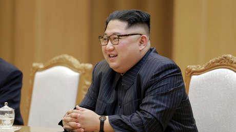 El líder norcoreano Kim Jong-un se reúne con el Secretario de Estado de EE. UU. Mike Pompeo. 9 de mayo de 2018.