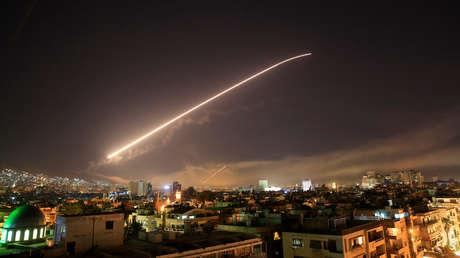 Damasco durante el ataque de EE.UU. y sus aliados el 14 de abril de 2018.