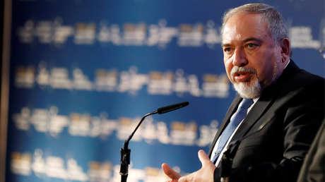 El ministro de Defensa de Israel, Avigdor Lieberman, en una conferencia en Herzliya, Israel, el 10 de mayo de 2018