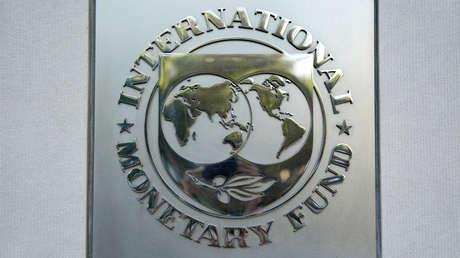 Logo en la sede del Fondo Monetario Internacional (FMI) en Washington.