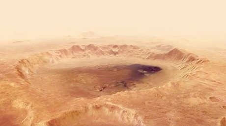 El cráter Neukum, en el hemisferio sur de Marte.