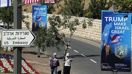 Zona cercana al complejo del consulado de EE.UU. en Jerusalén, que albergará a la nueva embajada del país en Israel, el 11 de mayo de 2018.