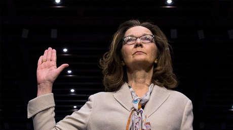 Gina Haspel durante su audiencia de confirmación ante el Comité de Inteligencia del Senado de EE.UU.