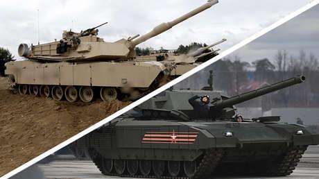 Los tanques M1 Abrams (izquierda) y T-14 Armata (derecha)