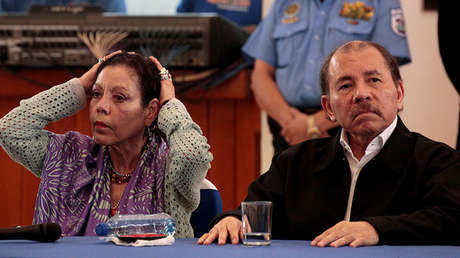 El presidente de Nicaragua, Daniel Ortega, y la vicepresidenta, Rosario Murillo.