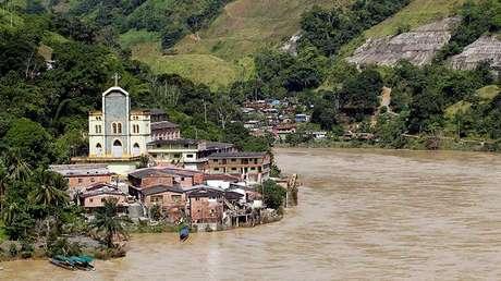 La localidad de Puerto Valdivia tras el desalojo de residentes por los problemas de construcción de una presa hidroeléctrica, el 18 de mayo de 2018.