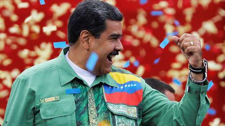 El presidente venezolano, Nicolás Maduro, durante la clausura de su campaña. 17 de mayo de 2018.