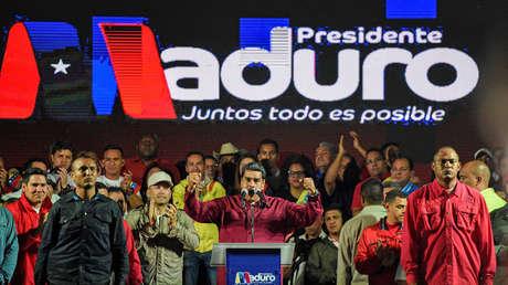 El presidente Nicolás Maduro tras conocerse el resultado de las presidenciales. Caracas, 20 de mayo de 2018.