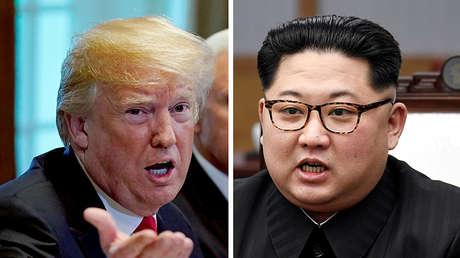 Una foto combinada muestra al presidente de EE.UU., Donald Trump, y el líder norcoreano, Kim Jong-un
