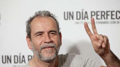 Willy Toledo durante la presentación de la película 'Un día perfecto', Madrid, España, 25 de agosto de 2015.