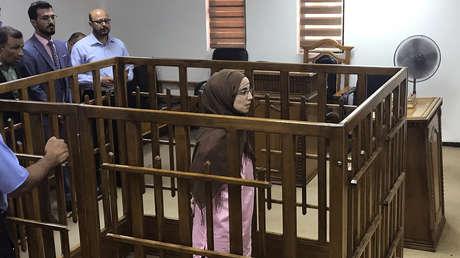 Djamila Boutoutaou, yihadista de origen francés de 29 años, sentenciada a condena perpetua por su afiliación al EI, Bagdad, 17 de abril del 2018.