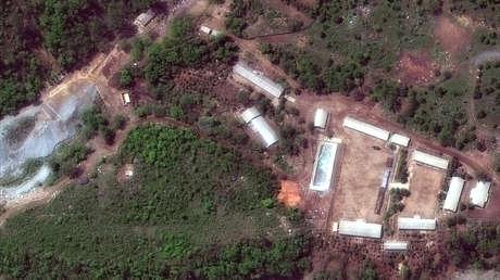 Sitio de pruebas nucleares norcoreano Punggye-ri, 23 de mayo de 2018