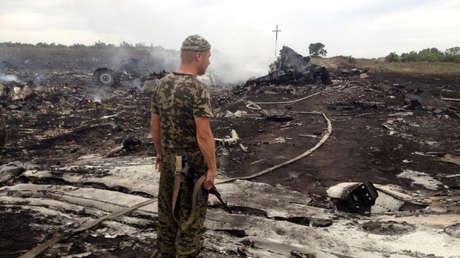 Lugar del derribo del Boeing 777 de Malaysia Airlines en la región de Donetsk, Ucrania, 17 de julio de 2014.