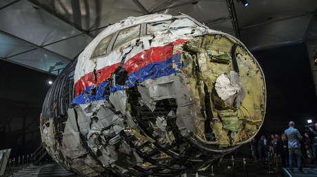 Los restos reconstruidos del MH17 de Malaysia Airlines, en Gilze Rijen, Países Bajos, el 13 de octubre de 2015.