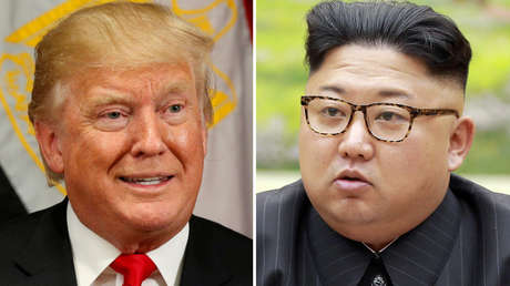 Una imagen combinada del líder norcoreano, Kim Jong-un, y el presidente estadounidense, Donald Trump.
