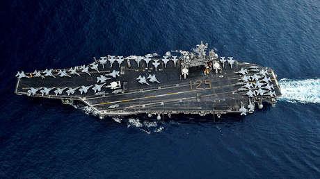 El portaviones USS Theodore de la Armada de EE.UU.