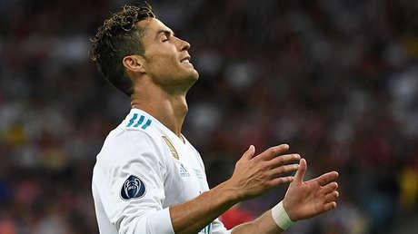 El delantero de Real Madrid, Cristiano Ronaldo. Final de la Liga de Campeones de la UEFA, 26 de mayo de 2018.