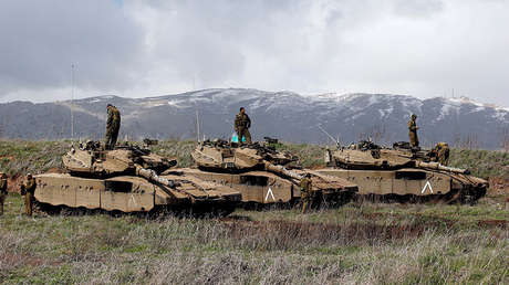 Soldados israelíes en los Altos del Golán cerca de la frontera con Siria, 19 de marzo de 2014