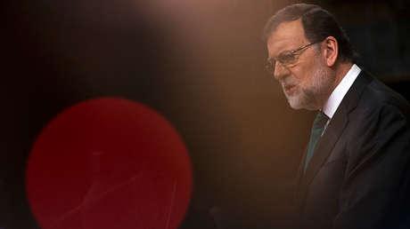 El presidente español, Mariano Rajoy, en el primer día del debate de la moción de censura. Madrid, 31 de mayo de 2018.