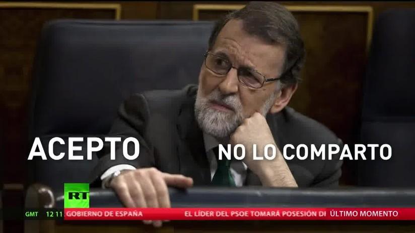 Rajoy se despide del cargo y acepta su derrota
