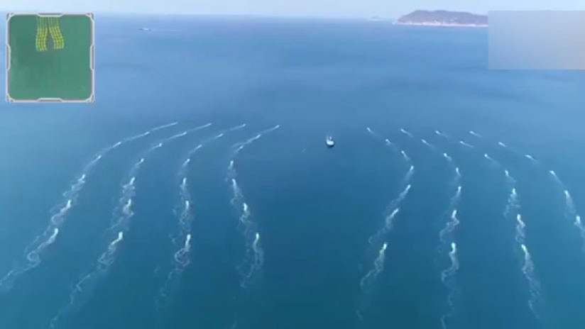 Video: China muestra el ensayo de una flota de drones acuáticos