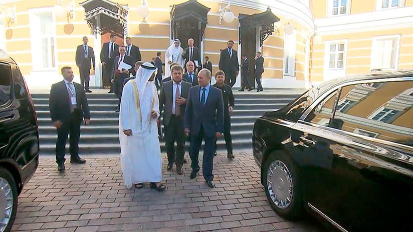 VIDEO: Putin muestra al príncipe heredero de Abu Dabi la nueva limusina del proyecto Kortezh