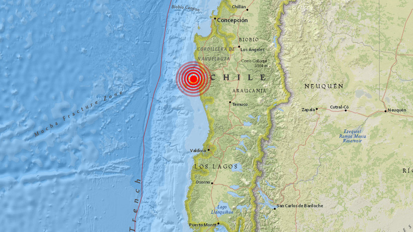 Sismo de magnitud 5,3 en el centro de Chile