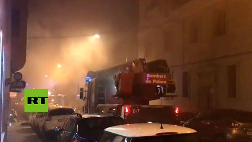 VIDEOS: Un incendio en un spa de Mallorca deja un herido y 28 desalojados
