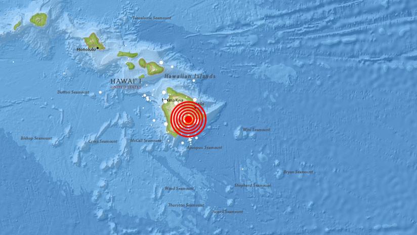 Hawái: Un sismo de magnitud 5,5 sacude la zona del volcán en erupción Kilauea